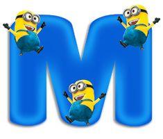 Minion Birthday, Minion Party, M Letter, Minnie Png, Free Printable Birthday Invitations, Minion Pictures, Teaching The Alphabet, Birthday Frames, Alphabet Art