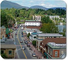 Main Street Lake Placid, NY.  I wish I could go once a month