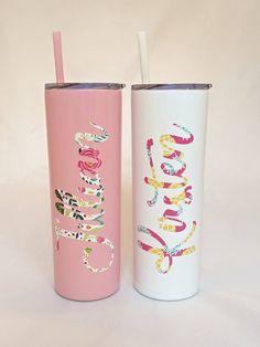 Personalized Skinny Steel Tumbler Wine By The Glass, Thermal Bottle, Secret Santa Gifts, Glass Photo, Powder Coating, Color Patterns, Tumbler, Cold, Mugs
