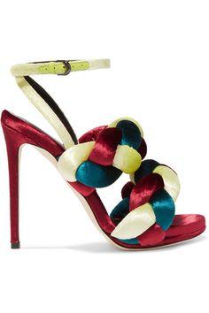 Marco De Vincenzo - Braided Velvet Sandals - Claret - IT37.5