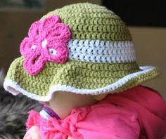 Crochet Baby Girl Sun Hat Pattern : Yarn Stuff on Pinterest Lace Scarf, Crochet Hats and ...