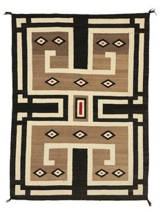 Navajo Double Saddle Blanket : Historic : PC 83 : x – Nizhoni Ranch Gallery Saddle Blanket, Navajo Rugs, Red Accents, Celtic Knot, Textile Design, Loom, Modern Art, Native American, Stencils