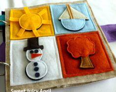 Forme et couleur assorties Velcro livre Page par SweetJuicyApril
