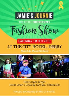 So excited about this! Bambinos Children Collection has the honour of dressing these little super heroes and I can't wait to see them storm the catwalk this Saturday