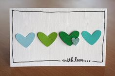 Hearts could be made from paper scraps, paint chips, fun foam, felt, or ?... with Hand-drawn border...