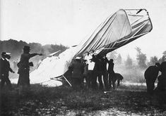First Plane Crash in History on September 17th 1908. The propeller separated leading to the crash which killed Lt Thomas Selfridge and gave Orville Wright broken ribs,pelvis and a leg.