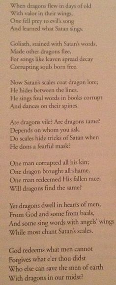 Dragons in Our Midst. Merlins riddle