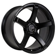 18x9.5 Enkei KOJIN 5x100 45 Black Rims Fits Jetta Matrix Corolla Frs