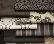 Mix of gray textiles.  From Smith and Noble  via Laurie Bracewell