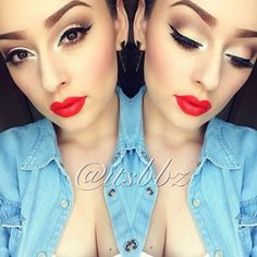 """Perfect make up for Red lips♥♥"""""""" #Gorgeous"""