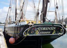"""Le """"Corentin"""", réplique d'un  lougre de l'Odet de 1845, ici à Concarneau en Bretagne. The traditional…"""