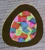 Easter stained glass egg