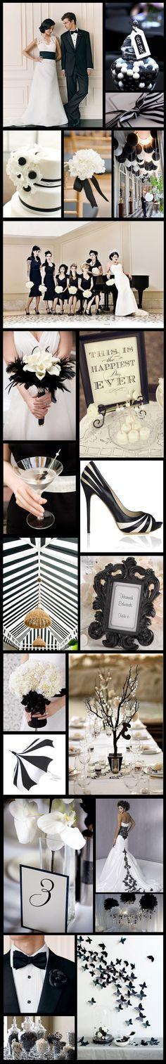 Une inspiration de décoration Black & white. #wedding #decoration http://www.instemporel.com/s/19158_decoration-theme-noir-blanc