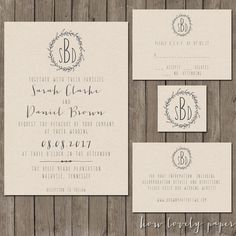 (look at this printable deigns, we can buy the design and print them ourselves! Save$$) Printable Wedding Invitation Suite the Cora by HowLovelyPaper