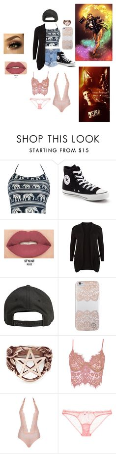 """""""The flash oc : Zatanna Zatara"""" by fandomlifechoosesyou ❤ liked on Polyvore featuring Levi's, Converse, Smashbox, New Look, Billabong, Nanette Lepore, Pamela Love, WithChic and L'Agent By Agent Provocateur"""
