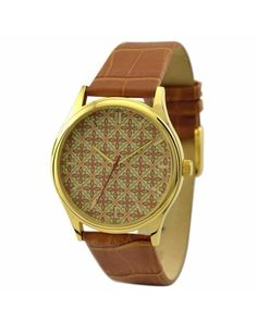 Linear Petals Leather Watch
