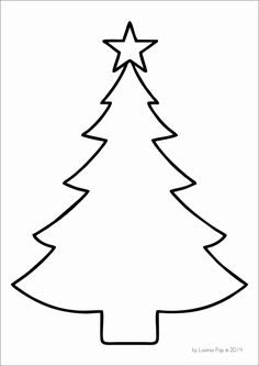 Christmas Tree Template 85x11