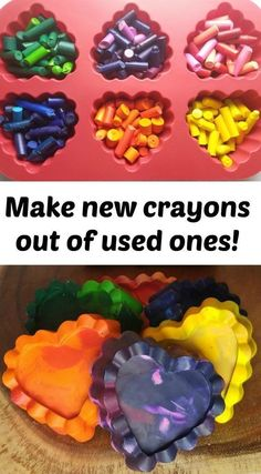 Fun DIY - Make new crayons out of old crayon pieces
