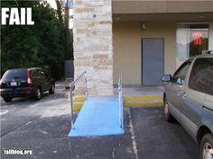 More wheelchair ramp fails www.mswheelchairamerica.org #MsWheelchairInc on facebook at Ms. Wheelchair America, Inc.