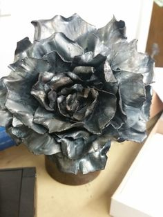 Beautiful metal flower