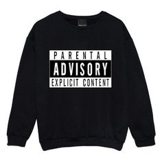Parental Advisory Sweater Jumper Womens Ladies Fun Tumblr Hipster Swag ❤ liked on Polyvore featuring tops, sweaters, hipster tops, jumpers sweaters, hipster sweaters and jumper top
