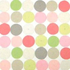 Fabric 'Mod Dot - Pastels' by Alexander Henry (USA). Roman blinds and curtains make to order online.