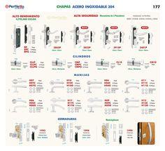 Chapas Acero Inoxidable - Alta Seguridad - Cerraduras Perfiletto ®| Catálogo Virtual Perfiletto