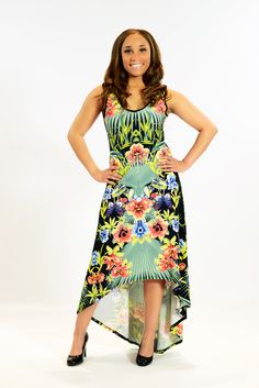 Stunning! Ladies hi-low dresses are at Citi Trends now for a great low price. #cititrends #floral