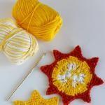 Crochet Sun Coasters for Summer Parties