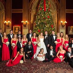 When a wedding party completely sleigh's  #Christmasweddinginspo