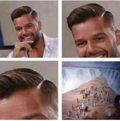 I like Ricky Martin but this was too funny Ghetto Humor, Stupid Funny, Funny Cute, Hilarious, Funny Stuff, Stuff Stuff, Funny Laugh, Dankest Memes, Funny Memes