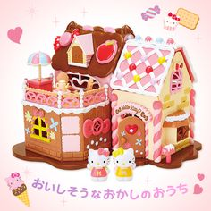 Hello Kitty Gingerbread House Absolutely Perfect idea for Bella's 1st birthday . Gingerbread at Christmas perfect