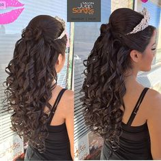 50 Long Hair 20 Absolutely Stunning Quinceanera Hairstyles with Crown Quincean. - 50 Long Hair 20 Absolutely Stunning Quinceanera Hairstyles with Crown Quinceanera - Sweet 16 Hairstyles, Quince Hairstyles, Wedding Hairstyles For Long Hair, Curled Hairstyles, Trendy Hairstyles, Straight Hairstyles, Crown Hairstyles, Gorgeous Hairstyles, Asian Hairstyles