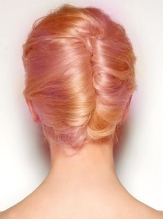 Image in - Dyed Hair/Hair Styles - collection by 마리아 (Maria) Pink And Orange Hair, Peach Hair, Peachy Pink Hair, Apricot Hair, White Hair, Twist Hairstyles, Pretty Hairstyles, Hairstyle Ideas, Wedding Hairstyles