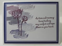 Sympathy Comfort Work of Art Bloom With Hope Stampin' Up Hand Stamped Card