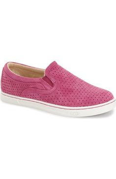 UGG® 'Fierce Geo' Perforated Slip-On Sneaker (Women) available at #Nordstrom