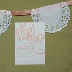 marie antoinette party invitation...dessert party...night before the wedding!