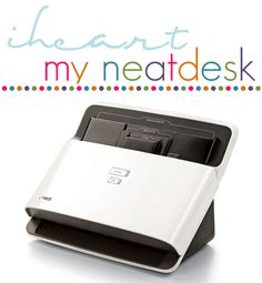 NeatDesk: high-speed desktop scanner and digital filing system . More than just a great scanner, NeatDesk also identifies and extracts key information then automatically organizes it. Receipt Organization, Office Organization At Work, Organizing Paperwork, Paper Organization, Business Organization, Organizing Ideas, Office Paper, Paper Clutter, Filing System