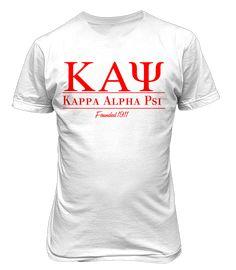 kappa alpha psi Collegiate T-Shirt Kappa Alpha Psi Fraternity, Theta, Divine Nine, Greek Clothing, Greek Life, Shirt Designs, Greek Apparel, Alma Mater, Spun Cotton