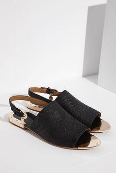 Sandalia pala con efecto serpiente - calzado | Adolfo Dominguez shop online
