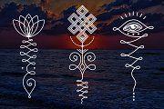 11 Unalome & lotus Sacred symbols - Illustrations - 7