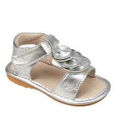 Love this Silver Wave Squeaker Sandal on #zulily! #zulilyfinds