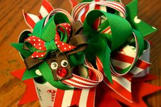 My name is Momma: How to make a reindeer hair bow for Christmas