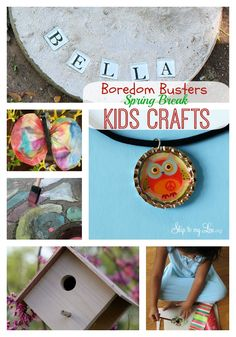 Spring break boredom busters. Try one of these simple and fun crafts today. #springbreak #kids #crafts Skiptomylou.org
