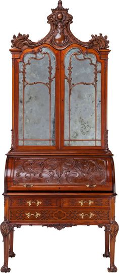 A Victorian Mahogany Secretary Bookcase, circa 1865.