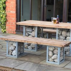 Gabion Bench - Woodberry