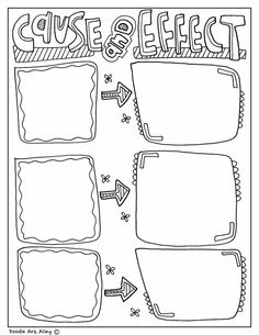 Fun printable, coloring Graphic Organizers at Classroom Doodles from Doodle Art Alley. Free and perfect for all classrooms! Creative Graphic Organizer, Graphic Organizers, 4th Grade Reading, 8th Grade Math, Third Grade, Math Notebooks, Interactive Notebooks, Reading Strategies, Reading Comprehension