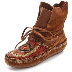 House of Harlow 1960 MADISON Moccasin Booties in Whiskey Suede : Size... ($235) ❤ liked on Polyvore