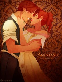 Anastasia and Dimitri. My favorite animated ship Anastasia Film, Dimitri Anastasia, Anastasia Romanov, Disney Anastasia, Walt Disney, Disney Couples, Disney Art, Princesa Anastasia, Disney Animation