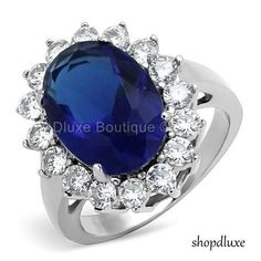 WOMENS-ROYAL-INSPIRED-HALO-BLUE-SAPPHIRE-AAA-CZ-STAINLESS-STEEL-FASHION-RING